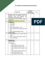 Checklist Sanitasi Industri