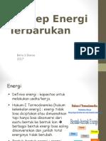 1.Konsep Energi Terbarukan