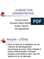 La Redaction Administrative (Gilbert Ndambwe)