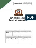 Plan de Emergencia Panaderia La Araucana