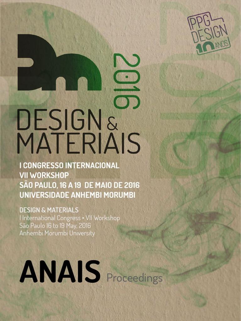 Anais do 1º Congresso Internacional - Workshop Design   Materiais.pdf de82c624c2b58