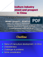 Mariculture Industry Development and Prospect in China