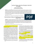 Bases Teóricas de Bem-Estar Subjetivo, Bem-Estar Psicológico e Bem-Estar