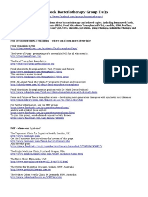 bacteriotherapy-faqs pdf   Probiotic   Gastroesophageal