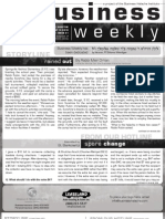 Business Weekly Newsletter, August 13, 2010 - Parshah Shoftim 5770