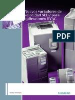 Variadores de Velocidad SED2 - Siemens