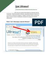 Cómo Utilizar Ultrasurf