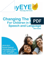 2010-2011 TinyEYE School District Guide for Speech Therapy Telepractice