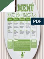 Menu Vegano rico en Omega