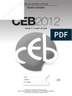Evaluation certificative - CEB - 2008 - Dossier de présentation à l attention de l enseignant (ressource 4946)