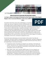#OurCenterOurCommunity