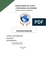 AUDITORIA FINANCIERA MONOGRAFIA