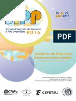 JIPP2016-Livro de Resumos PIBIC