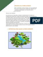 La Matemática en El Medio Ambiente
