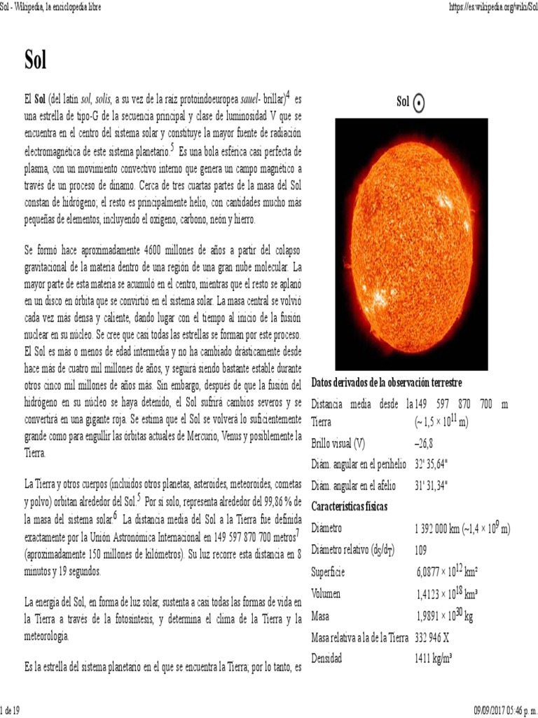Sol Wikipedia La Enciclopedia Libre Dom Estrellas