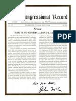 Congressional Record of John McCain on Gen. Lloyd J. Austin III