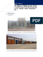 DIAGNOSTICO PARA LA Construcción de Pistas y Veredas de ASOCIACIÓN DE VIVIENDA MARÍA MAGDALENA - LURIGANCHO