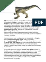 principali dinosauri riassunto