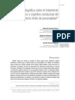 Revisión bibliográfica sobre el tratamiento sistémico y cognitivo conductual del trastorno límite de personalidad.