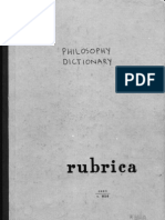 Thomistic-Aristotelian Dictionary of Philosophy