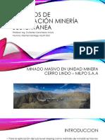 Métodos de Explotación Minería Subterranea