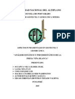 Análisis de Estabilidad de Taludes Presa Viña Blanca GRUPO 02