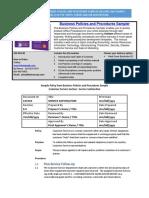 Bizmanualz Business Policies and Procedures Sampler