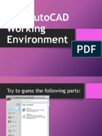 The AutoCAD Working Environment