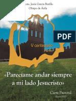 Carta Pastoral  Obispo Ávila 2015 - Parecíame andar siempre a mi lado Jesucristo.