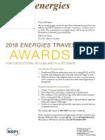 2018 Energies Travel Award of Flyer
