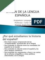Origen de La Lengua Española Sebastian1