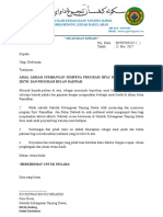 Surat Mohon Sumbangan Waris