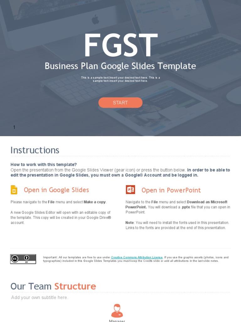 fgst0018 business plan google slides templates microsoft power