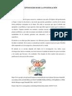 Conceptos Básicos de La Investigación! Grupo #1