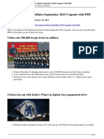 Important Current Affairs September 2015 Capsule With PDF