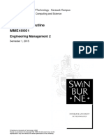 MME40001 Engineering Management 2 Sem1-2015 Unit of Study Outline(3)