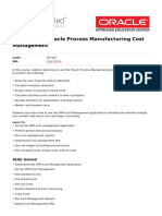 R12 Oracle Process Manufacturing Cost Management