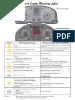 Instrument Cluster Warning Lights