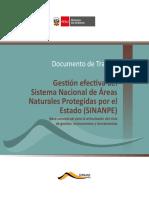 Gestión Efectiva Del Sistema Nacional de Áreas Naturales Protegidas Por El Estado (SINANPE)