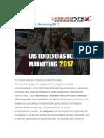 Tendencias Del Marketing 2017