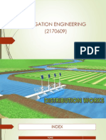 Distribution Work in Irrigation Eng