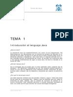 Tema 1 - Introducción Al Lenguaje Java