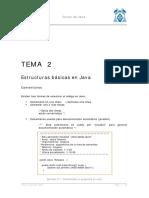 Tema 2 - Estructuras Básicas en Java