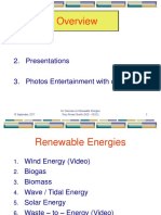 Presentation - An Overview on Renewable Energies by Riaz Ahmed.