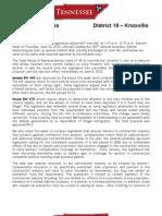 Newsletter - June 11, 2010