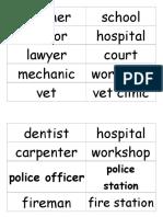 Jobs Word Cards