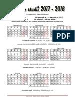 Calendarul Profesorului 2017-2018