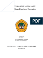 Cover Tugas SPM General Appliance Corporation