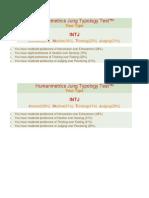 Humanmetrics Jung Typology Test