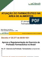 Palestra -  Atuação do farmacêutico na área de alimentos -  Mi rian R. L. Moura - UFRJ.pdf